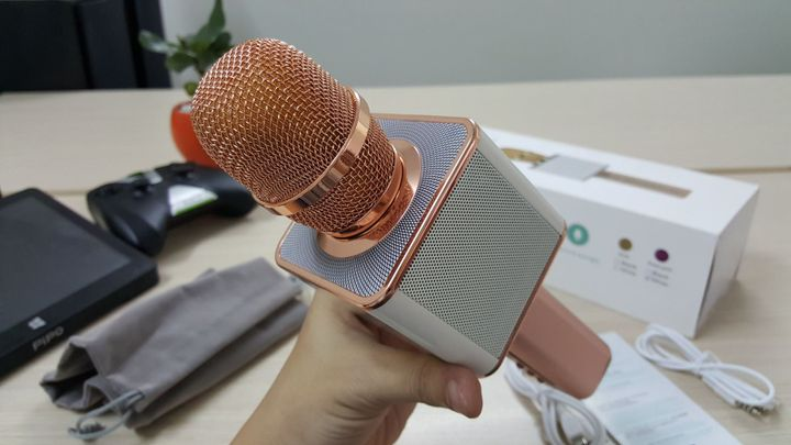 Mic Karaoke Kiêm Loa Bluetooth Magic YS10